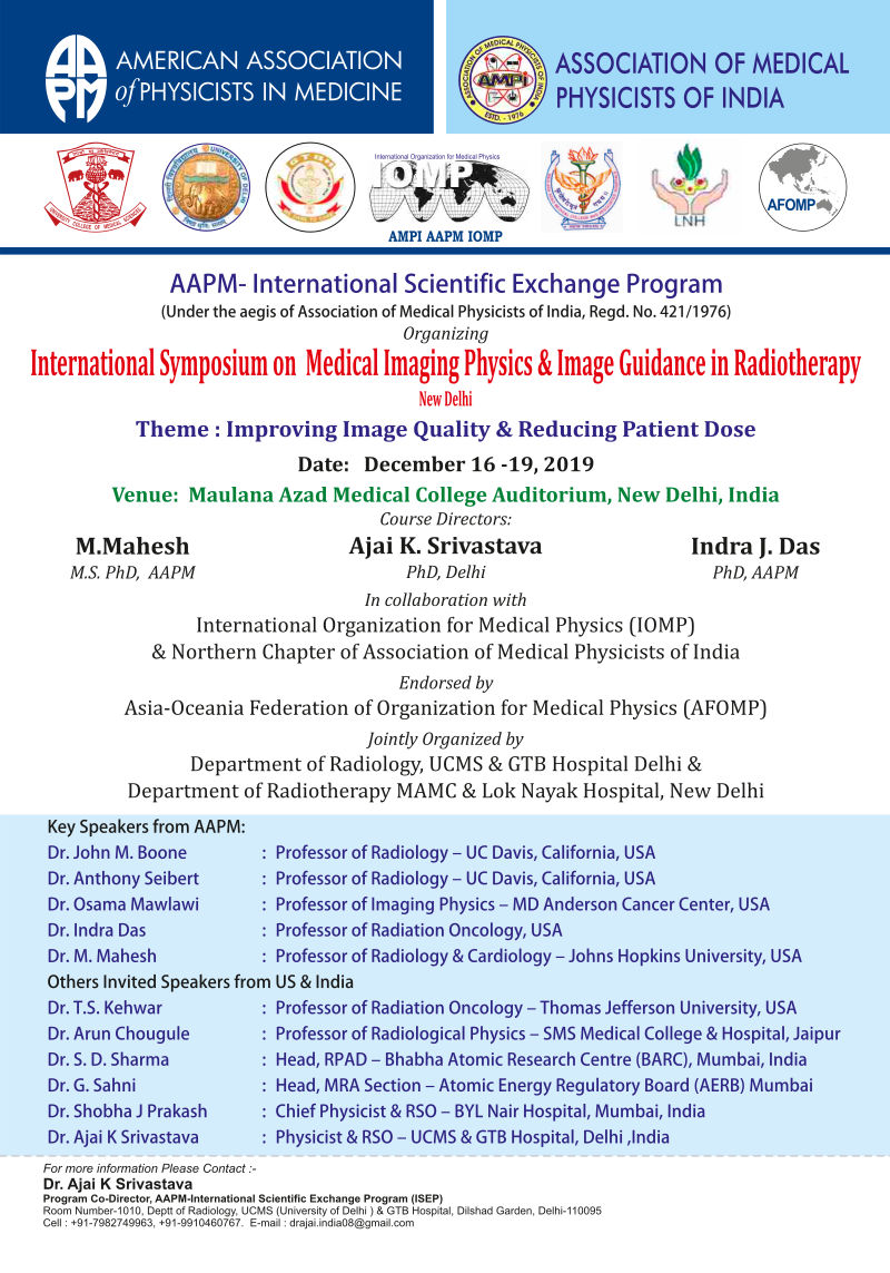International Symposium on Medical Imaging Physics and Image